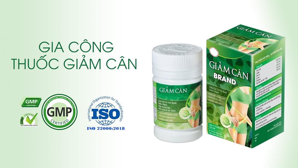 Gia công thuốc giảm cân theo tiêu chuẩn GMP và ISO22000:2018